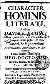 Character Hominis literat, Authore Daniela Bartoli...