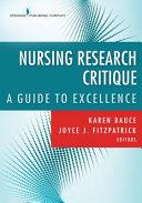 Nursing Research Critique