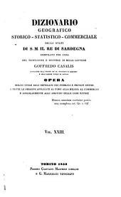 Dizionario geografico, storico, statistico, commerciale degli stati di S.M. il re di Sardegna: Volume 23
