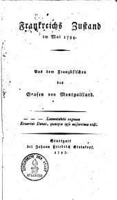 Frankreichs Zustand im Mai 1794