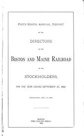 Report of the Directors of the Boston and Maine Rail Road Corporation