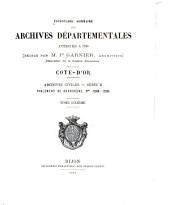 Inventaire sommaire des Archives départementales antérieures à 1790, Côte d'Or: Archives civiles, Série B, Volume6