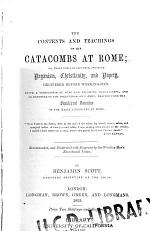 The Contents and Teachings of the Catacombs at Rome