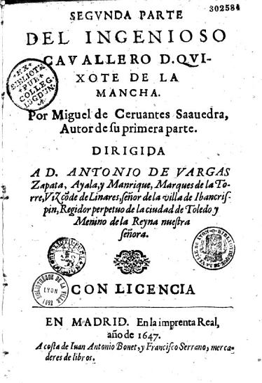 Primera y segunda parte del ingenioso hidalgo Don Quixote de la Mancha PDF