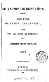 Edda Sæmundar Hinns Frođa: The Edda of Sæmund the Learned, Part 2