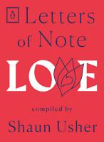 Letters of Note  Love PDF