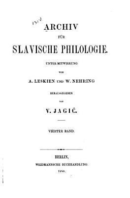 Archiv f  r slavische philologie PDF