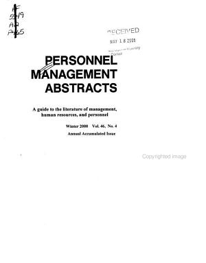 Personnel Management Abstracts PDF