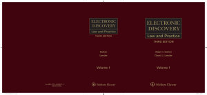 Electronic Discovery  Law and Practice  3rd Edition PDF