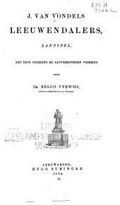 Nederlandsche Klassieken, Uitgegeven, en Met Aanteekeningen Voorzien Door Dr E. V. Pt. 1-4: Deel 1
