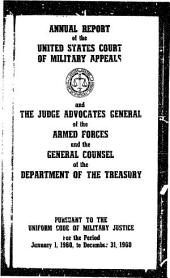 Annual Report of the United States Court of Military Appeals