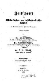 Zeitschrift für Philosophie und philosophische Kritik: Band 39