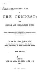 The Tempest  with Critical and Explanatory Notes PDF