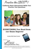 Practice the Cbest  California Basic Educational Skills Test Practice Test Questions PDF