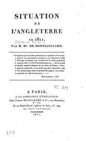Situation de l'Angleterre en 1811