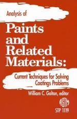 Analysis of Paints and Related Materials