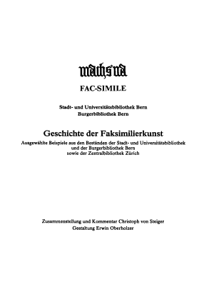 Machs na  Fac simile PDF