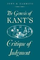 The Genesis of Kant s Critique of Judgment PDF