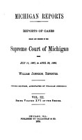Michigan Reports  1  VOL  1 200 ONLY PDF
