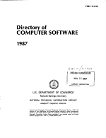 A Directory of Computer Software