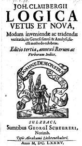 Logica vetus et nova (etc.)