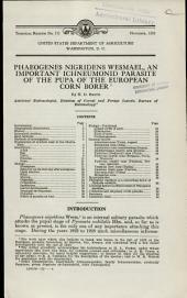Phaeogenes nigridens Wesmael, an important ichneumonid parasite of the pupa of the European corn borer: Volumes 326-350