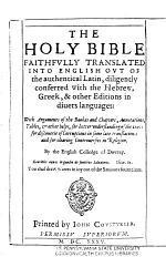 Holy Bible Faithfvlly Translated Into English