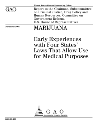 Marijuana Early Experiences With Four States Laws That Allow Use For Medical Purposes  Book PDF