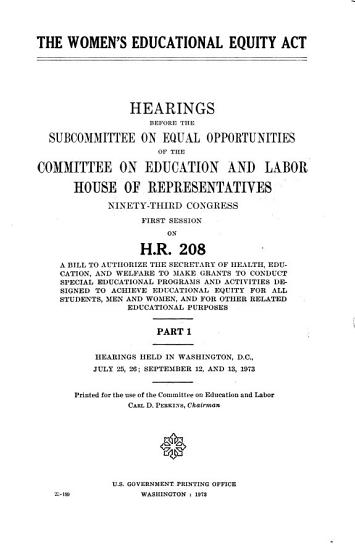 The Women s Educational Equity Act PDF