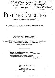 The Puritan s Daughter Book