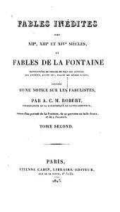 Fables inédites des XIIe, XIIIe et XIVe siècles, et fables de La Fontaine: Volume2
