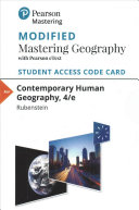 Contemporary Human Geography Modified Mastering Geography Access Code Book PDF