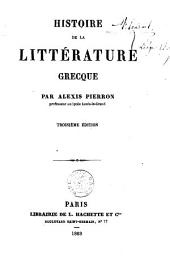 Histoire de la littérature grecque
