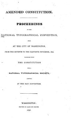 Proceedings of the National Typographical Convention PDF