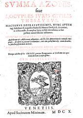 Summa ... sive locuples juris civilis thesaurus, nunc studio Henrici Dresii emendatus etc