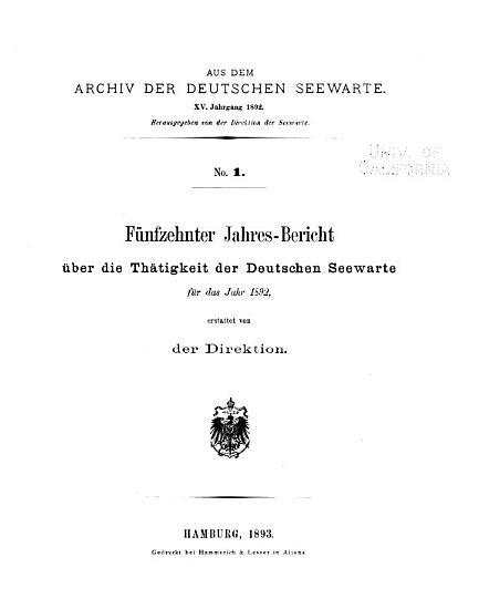 Aus dem Archiv der Deutschen Seewarte PDF