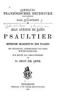 Jean Antoine de Ba  fs Psaultier PDF