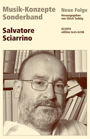 MUSIK KONZEPTE Sonderband   Salvatore Sciarrino PDF
