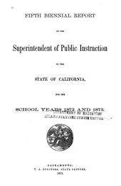 Biennial Report of the Superintendent of Public Instruction of the State of California