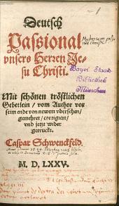 Deutsch Passional U. H. J. Christi