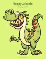 Happy Animals Coloring Book 1 & 2