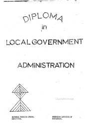 Diploma in Local Government Administration PDF