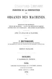 Principes de la construction des organes des machines ...