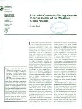 Site index curves for young-growth incense-cedar of the westside Sierra Nevada