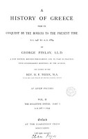 A HISTORY OF GREECE FROM ITS CONQUEST BY THE ROMANX TO THE PRESENT TIME PDF