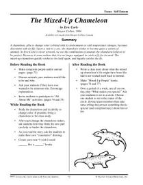 Eric Carle Literature Activities  The Mixed Up Chameleon PDF