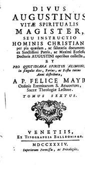 Divus Augustinus vitae spiritualis magister