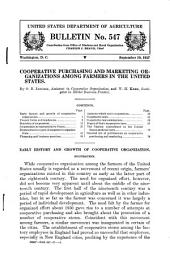 Cooperative Purchasing and Marketing Organizations Among Farmers in the United States