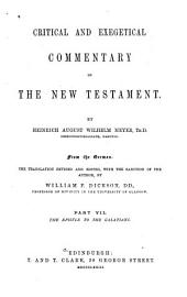 Critical and Exegetical Commentary on the New Testament: Acts