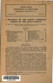 A Revision of the North American Aphids of the Genus Myzus